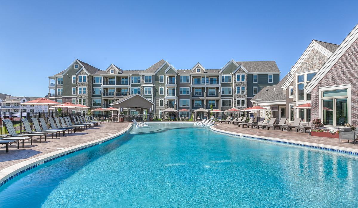 Waterside Apartments in Lenexa, Kansas designed by NSPJ Architects